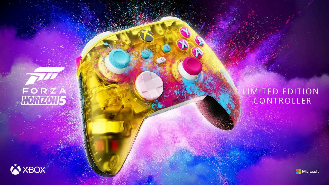 The snazzy-looking new Forza Horizon 5 controller