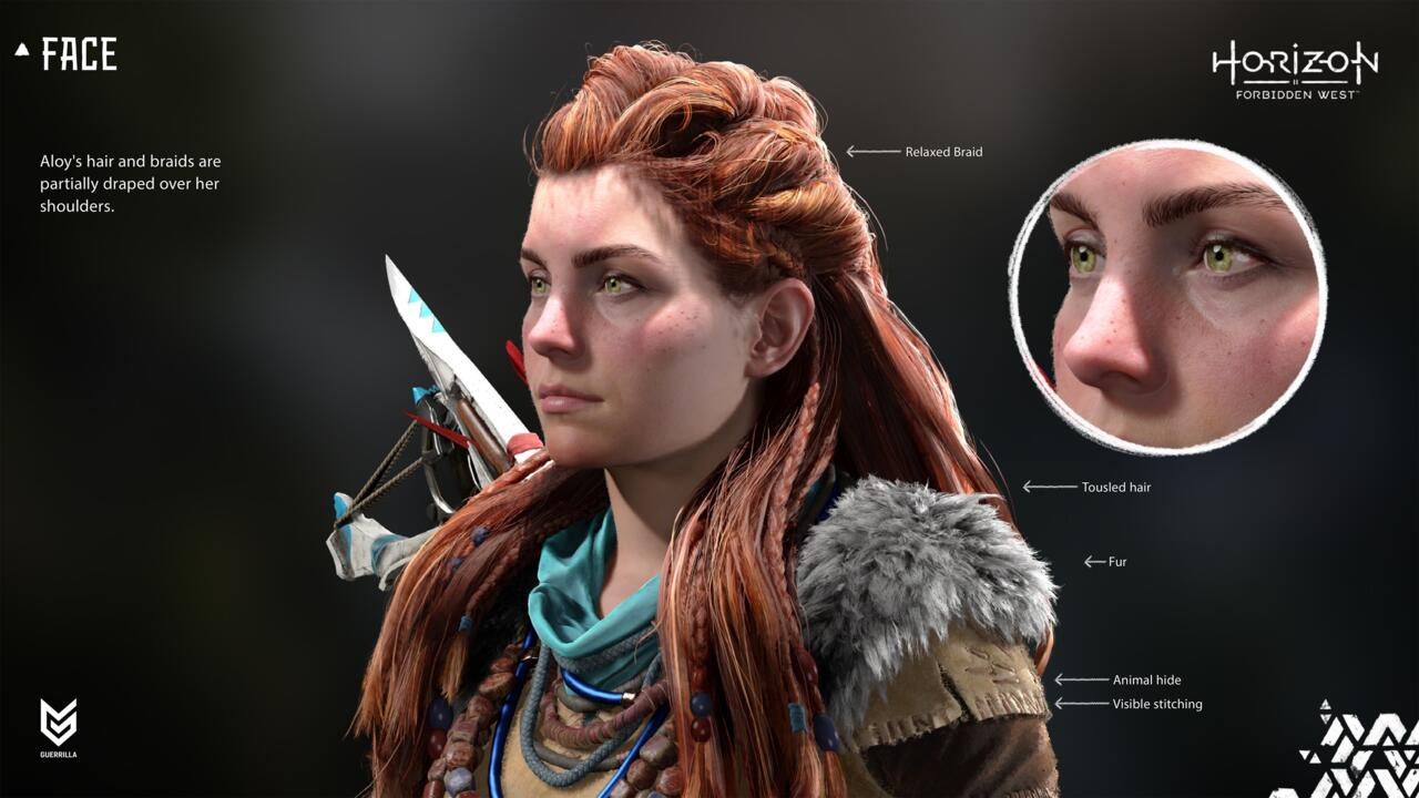 A closer look at the improvements made to Aloy's character model on PS5