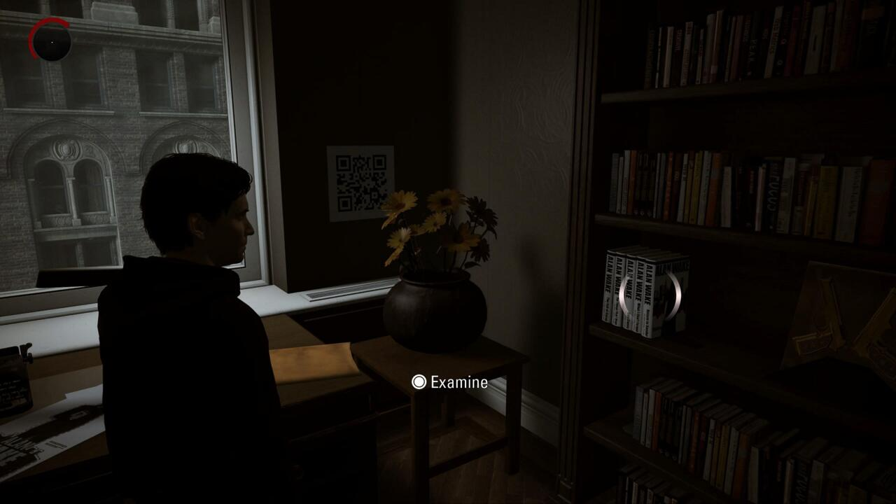 The second QR code is found in Alan and Alice's New York apartment in his office.
