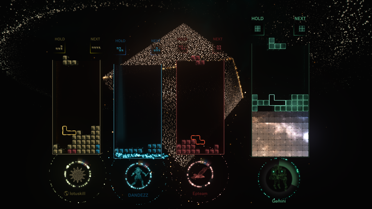 Connected mode in Tetris Effect: Connected